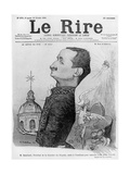 Caricature of Paul Deschanel, from 'Le Rire', 10 February 1900 Giclee Print by Charles Leandre
