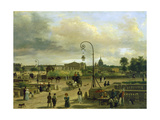 Place Louis XVI in Paris, 1829 Giclee Print by Giuseppe Canella