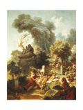 Lover Crowned with Flowers Giclée-Druck von Jean-Honoré Fragonard