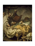 Death of St. Francis De Sales, 1766 Giclee Print by Louis Jean Jacques Durameau