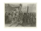 Napoleon Bonaparte Presenting the Treaty of Campo Formio Giclee Print by Denis Auguste Marie Raffet