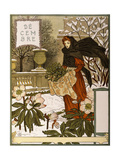 December, Illustration from the Fine Art Portofolio 'Le Mois', 1896 Giclee Print by Eugene Grasset