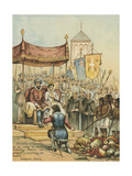 Reception of Columbus on His Return from the New World Giclee Print by Andrew Melrose