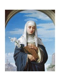 St Catherine of Siena, 1888 Giclee Print by Alessandro Franchi