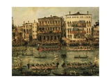 Regatta on Grand Canal Near Rialto in Venice Giclee Print by Francesco Guardi