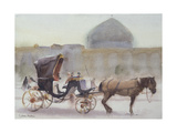Horse and Carriage, Naghshe Jahan Square, Isfahan Giclee Print by Trevor Chamberlain