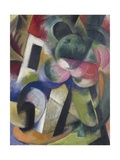Small Composition II, House with Trees Giclee Print by Franz Marc