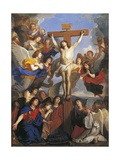 Crucifix with Angels, Circa 1660 Giclee Print by Charles Le Brun