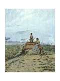 On a Wagon in the Fields, 1892 Giclee Print by Niccolo Cannicci