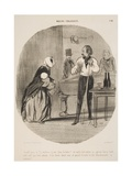 Grand Gueux Va! Je Voudrais T'Y Voir Dans La Bière! Giclee Print by Honore Daumier
