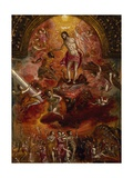 Allegory of Christian Knight, Back of Portable Altar Giclee Print by  El Greco