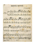 Score for Russian Dances Giclee Print by Peter Ilyich Tchaikovsky
