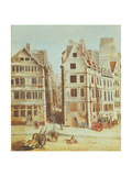 The Cabaret 'A L'Image Notre-Dame', Place De Greve in 1751 Giclee Print by Nicolas Raguenet