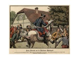 King Frederick the Great and the Schoolchildren of Potsdam Giclee Print by Carl Rochling