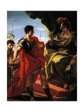 Scaevola before Porsenna Giclee Print by Giovanni Antonio Pellegrini
