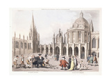St. Mary's Church and Radclivian Library, 1809-1811 Giclee Print by Thomas Rowlandson