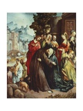 Christ Taking Leave of His Mother Giclee Print by Cornelis Engebrechtsz