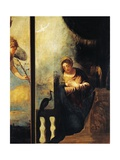 Virgin of Annunciation, Detail from Annunciation Giclee Print by Andrea Schiavone