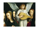 Angel Musician, Detail from Virgin Among Virgins, 1450 Giclee Print by Gerard David