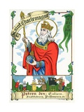 Saint Charlemagne, Patron of Students and Teachers, C.1910 Giclee Print