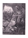Queen Philippa Interceding for the Burghers of Calais Ad 1347 Giclee Print by Charles Gregory