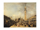 Feast of Ascension in Piazza San Marco in Venice Giclee Print by Francesco Guardi
