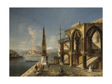 Architectural Capriccio with Obelisk Giclee Print by Michele Marieschi