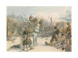 Joachim II Leading Battle in the Turkish Wars in 1542 Giclee Print by Carl Rohling
