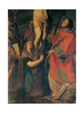 Crucifixion with St Ambrose, St Mary Magdalene and St Lawrence, 1610 Giclee Print by Giovanni Battista Crespi