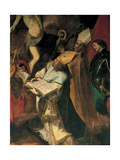 The Risen Christ and Sts Peter, Ambrose, Augustine, Victor and a Nun Giclee Print by Giovanni Battista Crespi