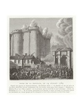Storming of the Bastille, Paris, French Revolution, 14 July 1789 Giclee Print by Jean Duplessis-bertaux