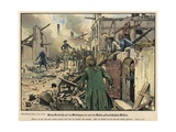 Frederick the Great Visiting the Ruins of the Burned Town of Kustrin Giclee Print by Carl Rochling