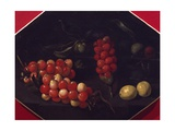 Still Life with Cherries and Strawberries Giclee Print by Luca Forte