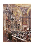 San Gennaro's Chapel in the Cathedral of Naples Giclee Print by Giacinto Gigante