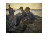 On Rocks at Fiskebackskil, 1905-1906 Giclee Print by Carl Wilhelm Wilhelmson
