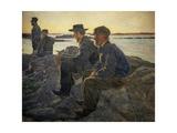 On Rocks at Fiskebackskil, 1905-1906 Giclee Print by Carl Wilhelm Wilhelmson