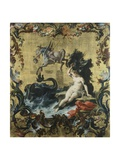 Perseus Freeing Andromeda from the Sea Monster Giclee Print by Filippo Falciatore