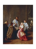 The Seven Sacraments: Marriage, before 1755-57 Giclee Print by Pietro Longhi