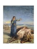 Cossack Girl Finding Body of Mazepa, 1851 Giclee Print by Theodore Chasseriau