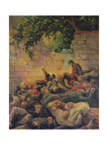 Execution of the Communards at the 'Mur Des Federes' Giclee Print by Maximilien Luce