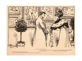 At the Salon D'Automne, from 'Le Rire', 11 November 1905 Giclee Print by Albert Guillaume