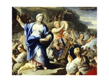 Scene of Dancing and Singing, from Song of Miriam Giclee Print by Luca Giordano