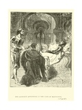 Don Quixote's Adventure in the Cave of Montesinos Giclee Print by Sir John Gilbert