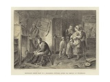 Napoleon Seeks Rest in a Roadside Cottage after His Defeat at Waterloo Giclee Print by Marcus Stone