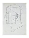 The Human Head, Illustration for 'Divina Proportione' Giclee Print by  Leonardo da Vinci