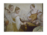 Musicians, Detail from Concert Giclee Print by Giovanni Antonio Fasolo