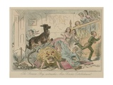 "The ""Benicia Boy"" Astonishes Miss Birche's Establishment Giclee Print by Hablot Knight Browne"