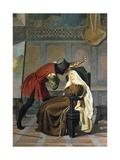 Filippo Lippi and Nun Lucrezia Buti Giclee Print by Gabriele Castagnola
