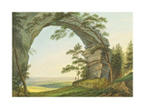 View of Prebischtor in Saxon Switzerland on the Border of Bohemia Giclee Print by Christian Gottlob Hammer