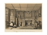 Fireplace in the Gate-House, Kenilworth, Warwickshire Giclee Print by Joseph Nash